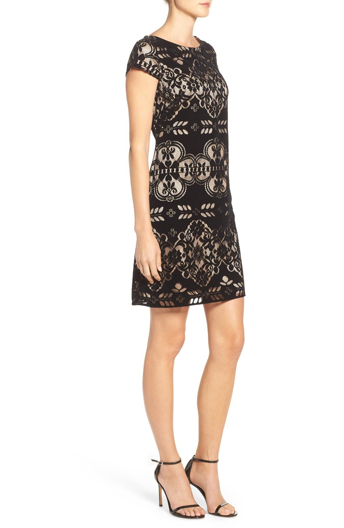 Alternate Image 3  - Eliza J Burnout Velvet Sheath Dress (Regular & Petite)