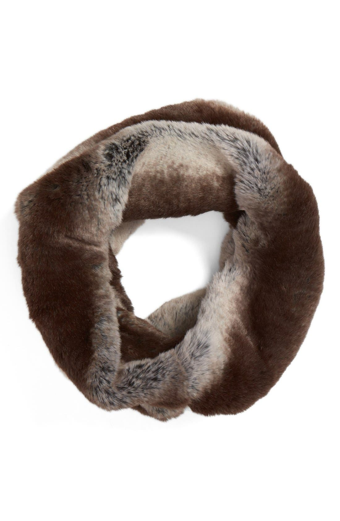Main Image - Badgley Mischka Faux Chinchilla Neck Warmer