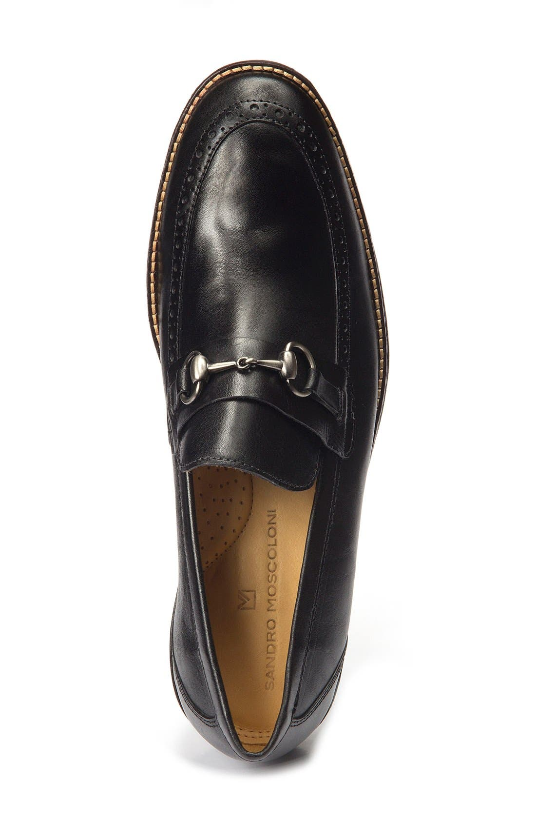 Wesley Bit Loafer,                             Alternate thumbnail 3, color,                             Black Leather