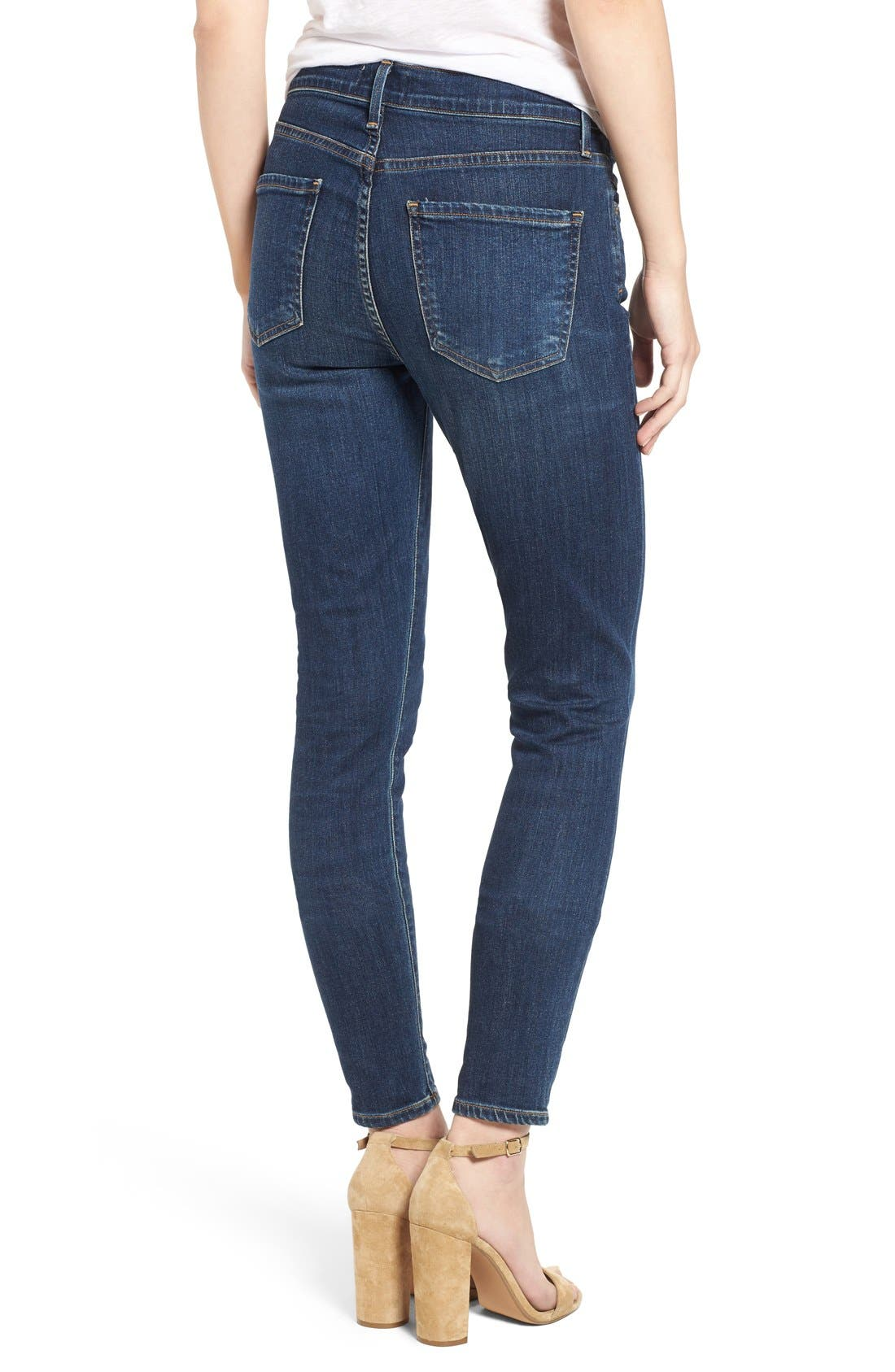 Sophie High Rise Ankle Skinny Jeans,                             Alternate thumbnail 2, color,                             Chamberlin
