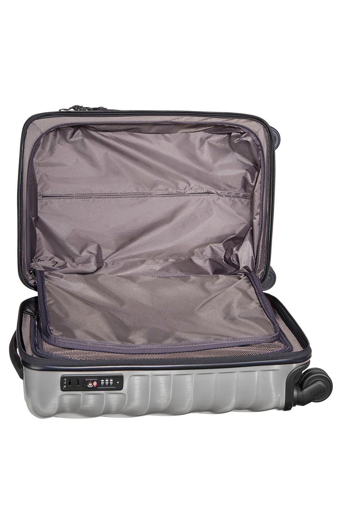 19 Degree 22 Inch Continental Wheeled Carry-On,                             Alternate thumbnail 4, color,                             Silver