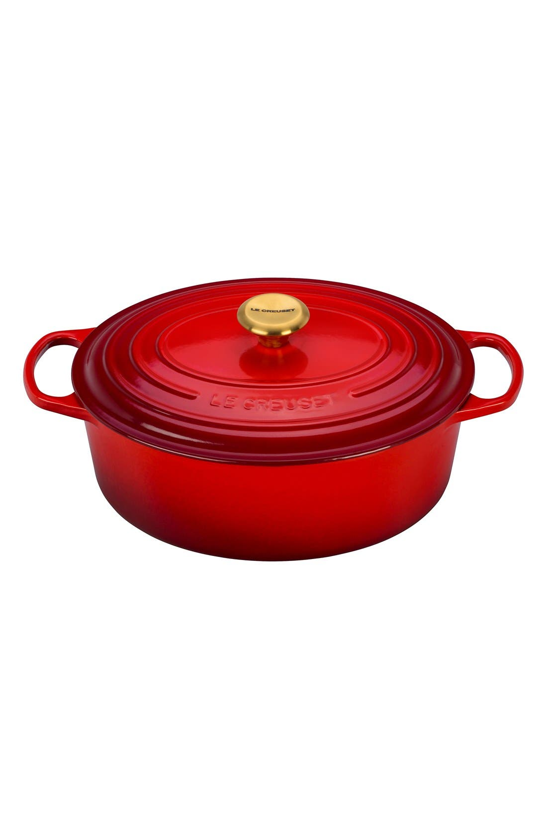 Alternate Image 1 Selected - Le Creuset Signature 6 3/4 Quart Oval Enamel Cast Iron French/Dutch Oven