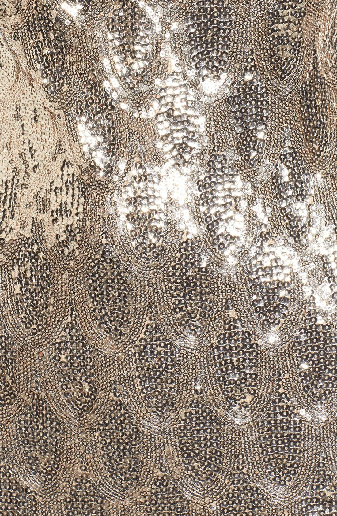 Alternate Image 5  - TFNC Paris Scallop Hem Sequin Dress