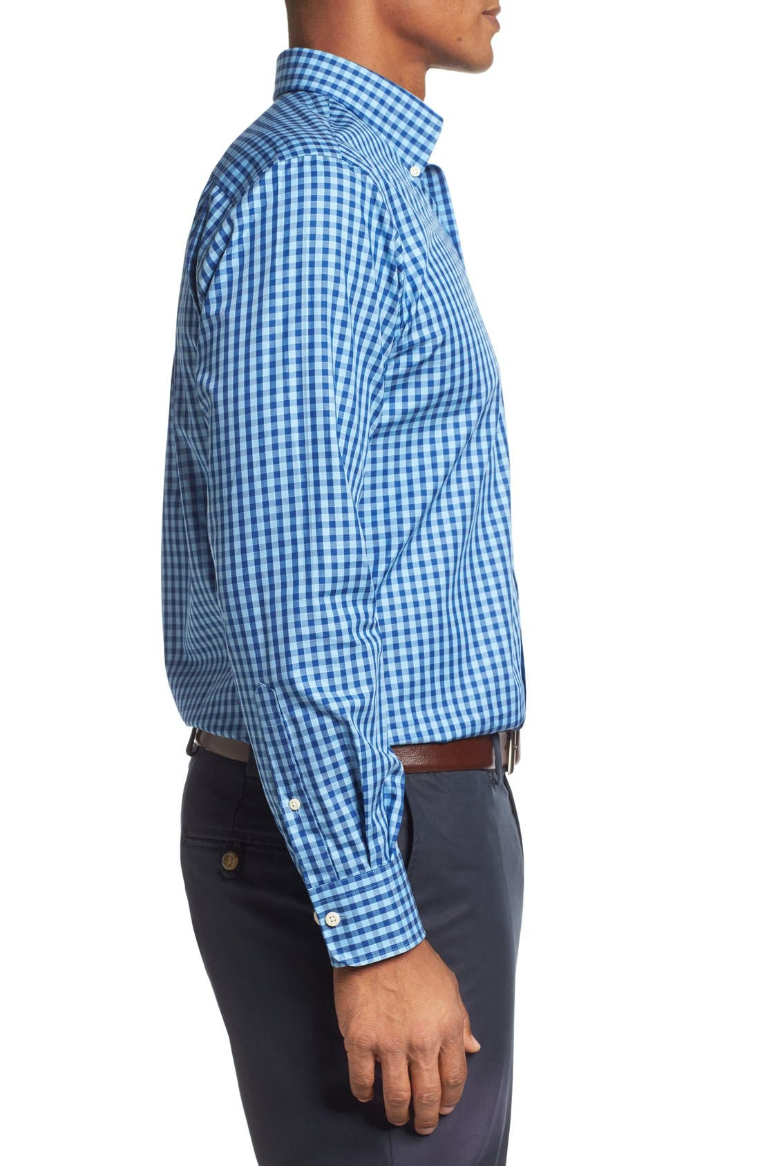 Alternate Image 3  - Peter Millar Regular Fit Check Sport Shirt