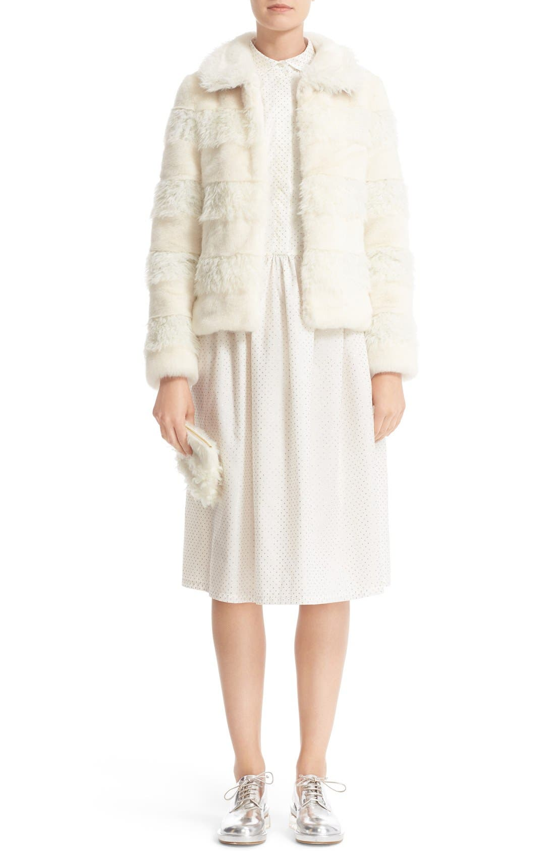 Alternate Image 2  - Shrimps Jenny Faux Shearling Clutch (Nordstrom Exclusive)
