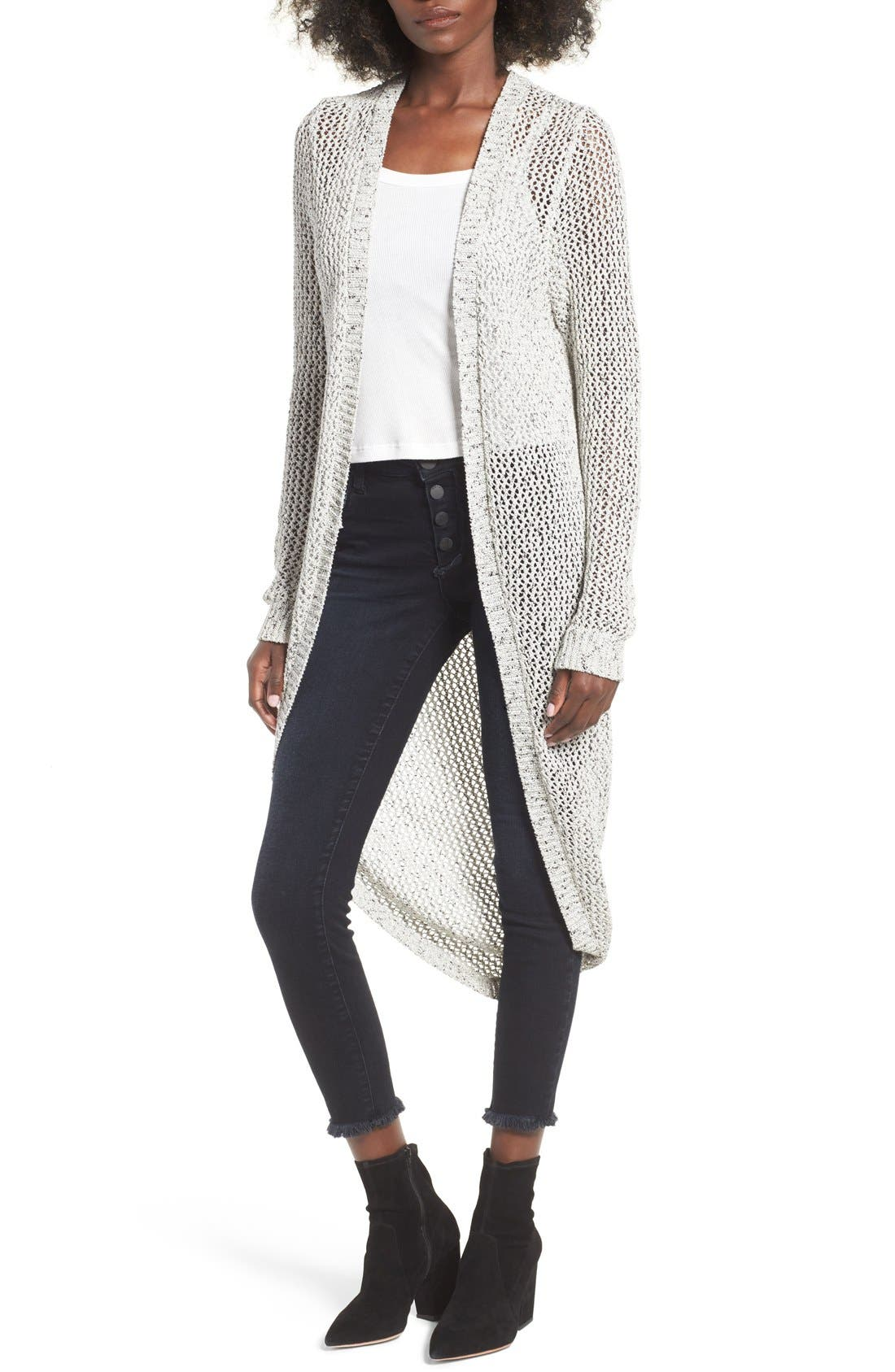 Alternate Image 1 Selected - BLANKNYC Open Stitch Cardigan