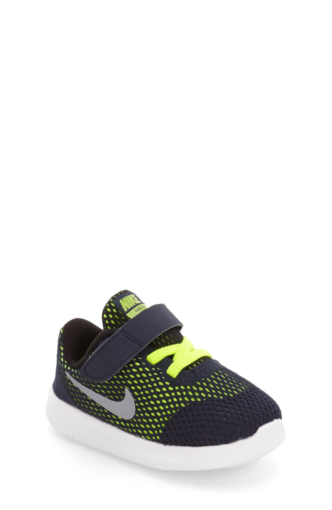 Alternate Image 1 Selected - Nike Free RN Sneaker (Baby, Walker & Toddler)