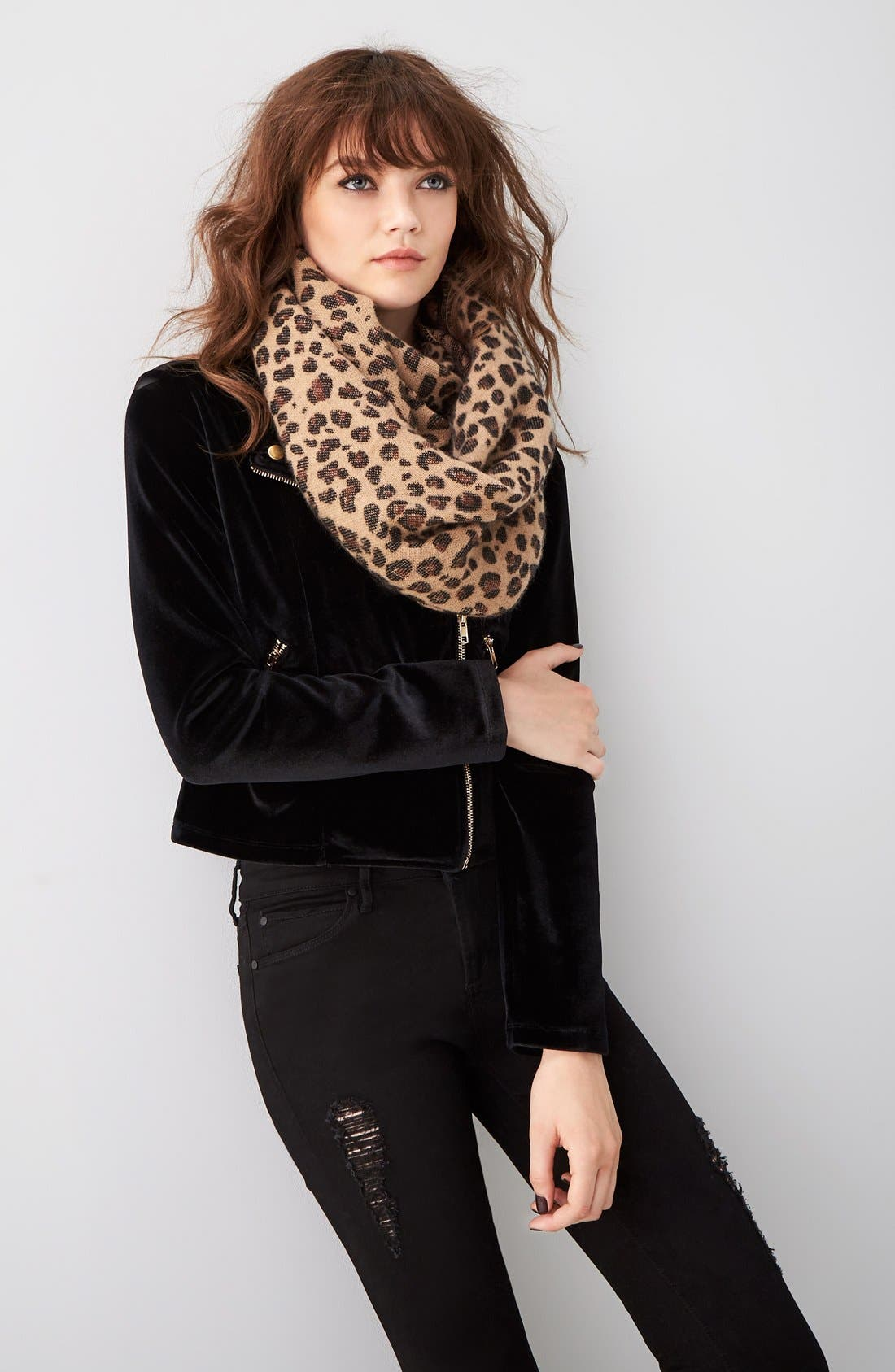 Alternate Image 2  - BP. Leopard Pattern Infinity Scarf
