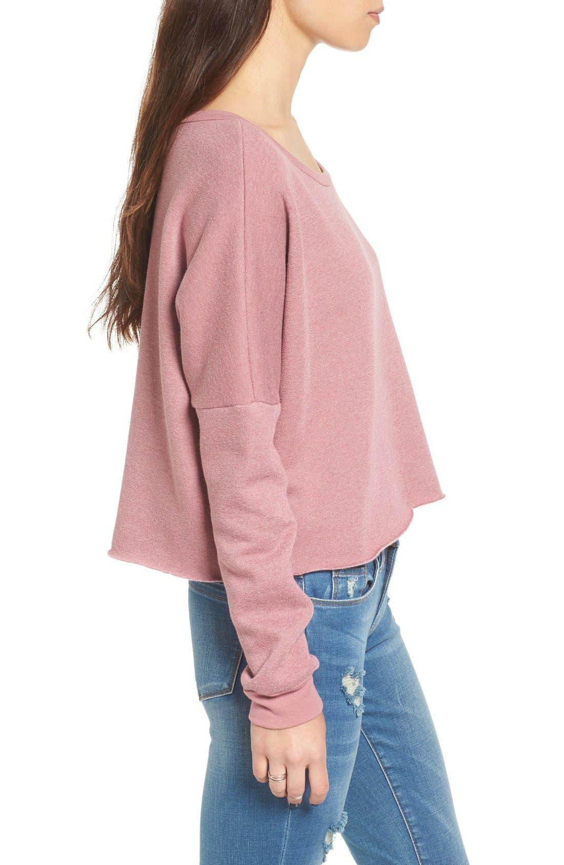 Alternate Image 3  - Project Social T Raw Edge Crop Sweatshirt