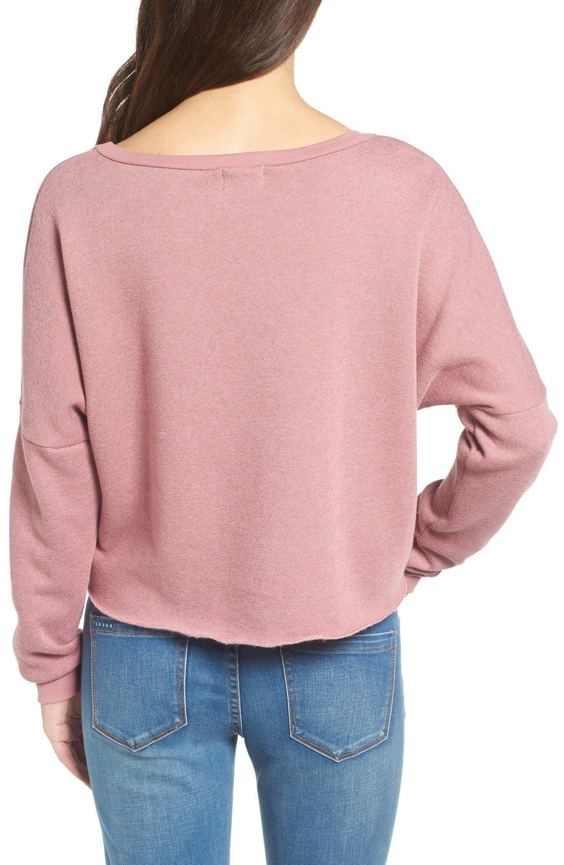 Alternate Image 2  - Project Social T Raw Edge Crop Sweatshirt