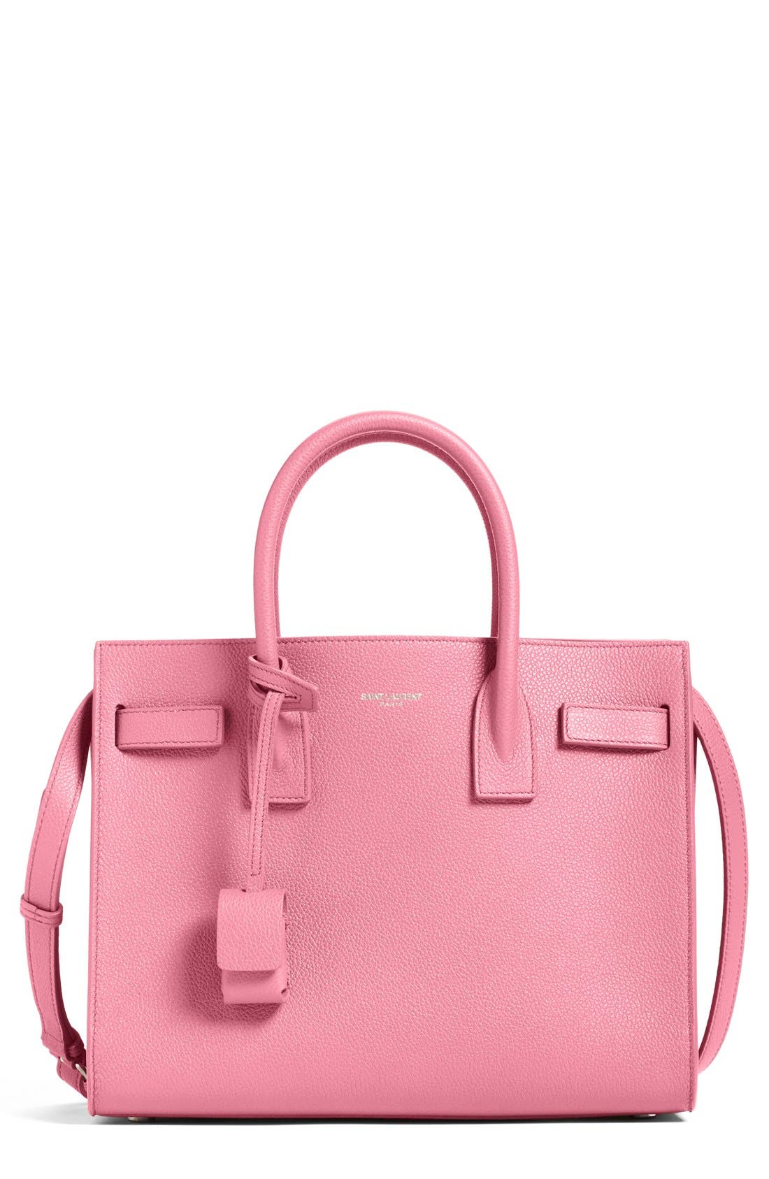 'Baby Sac de Jour' Bonded Leather Tote,                             Main thumbnail 1, color,                             Pink