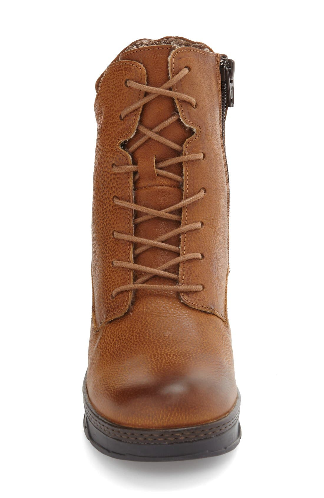 Fierce Boot,                             Alternate thumbnail 3, color,                             Brown Leather