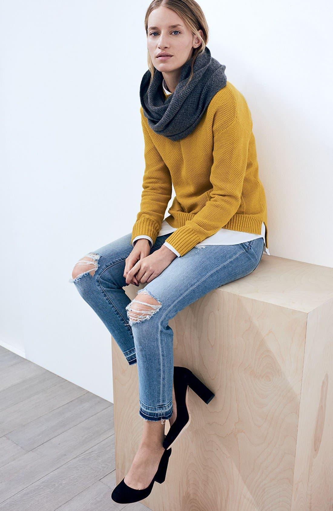 Alternate Image 4  - Halogen® Knit Cashmere Infinity Scarf