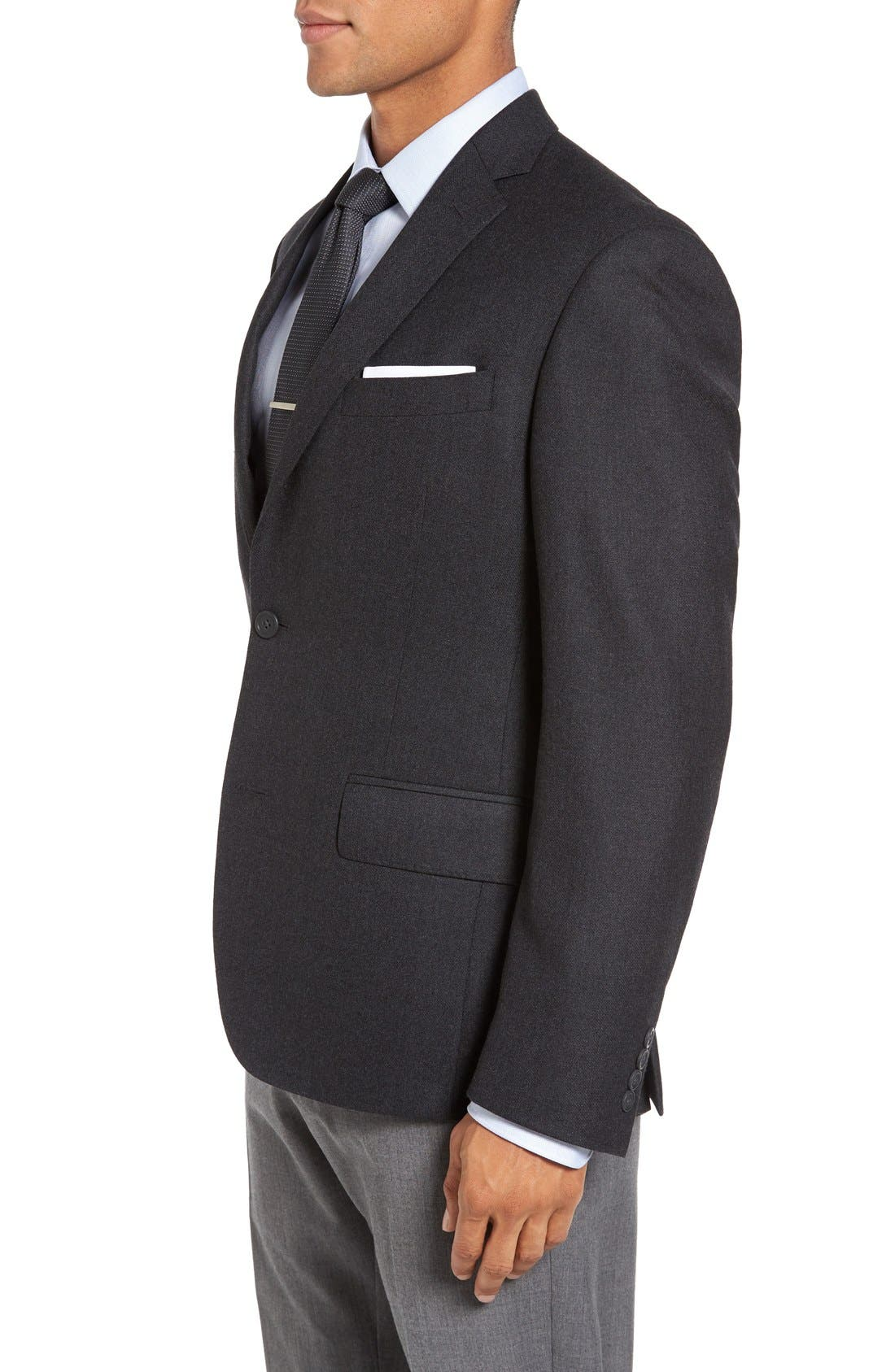 Classic Fit Wool & Cashmere Blazer,                             Alternate thumbnail 3, color,                             Charcoal