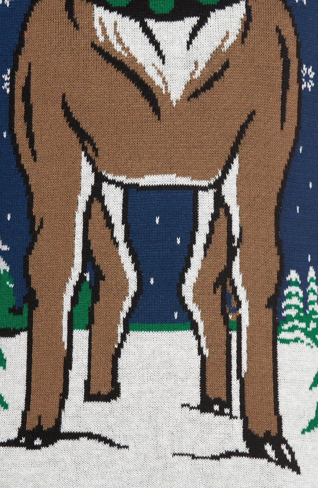 Alternate Image 5  - The Rail Reindeer Intarsia Hooded Sweater