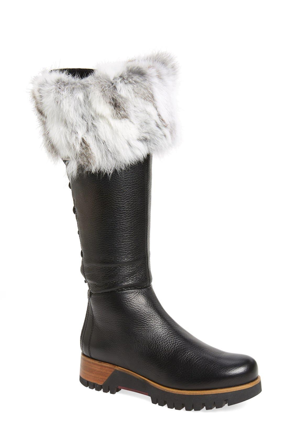 Alternate Image 1 Selected - Rudsack Baddow Genuine Rabbit Fur Trim Winter Boot (Women)