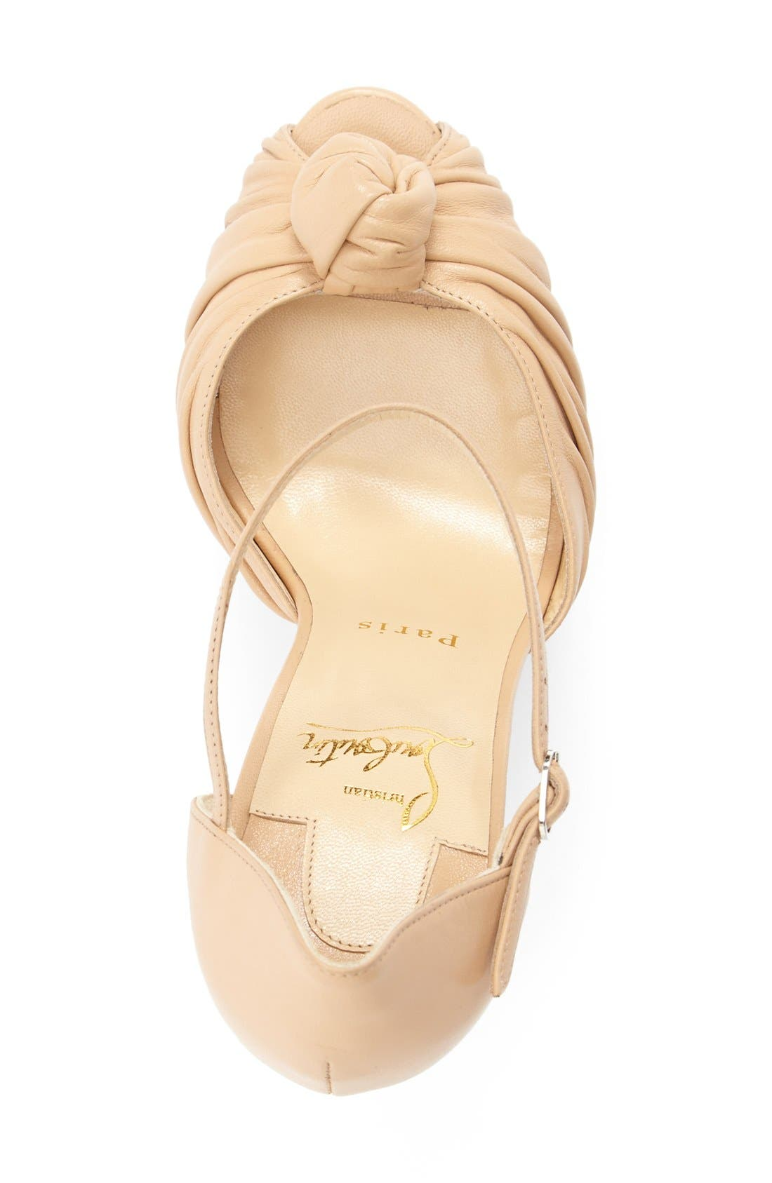 Marchavekel Knot Sandal,                             Alternate thumbnail 3, color,                             Nude Leather