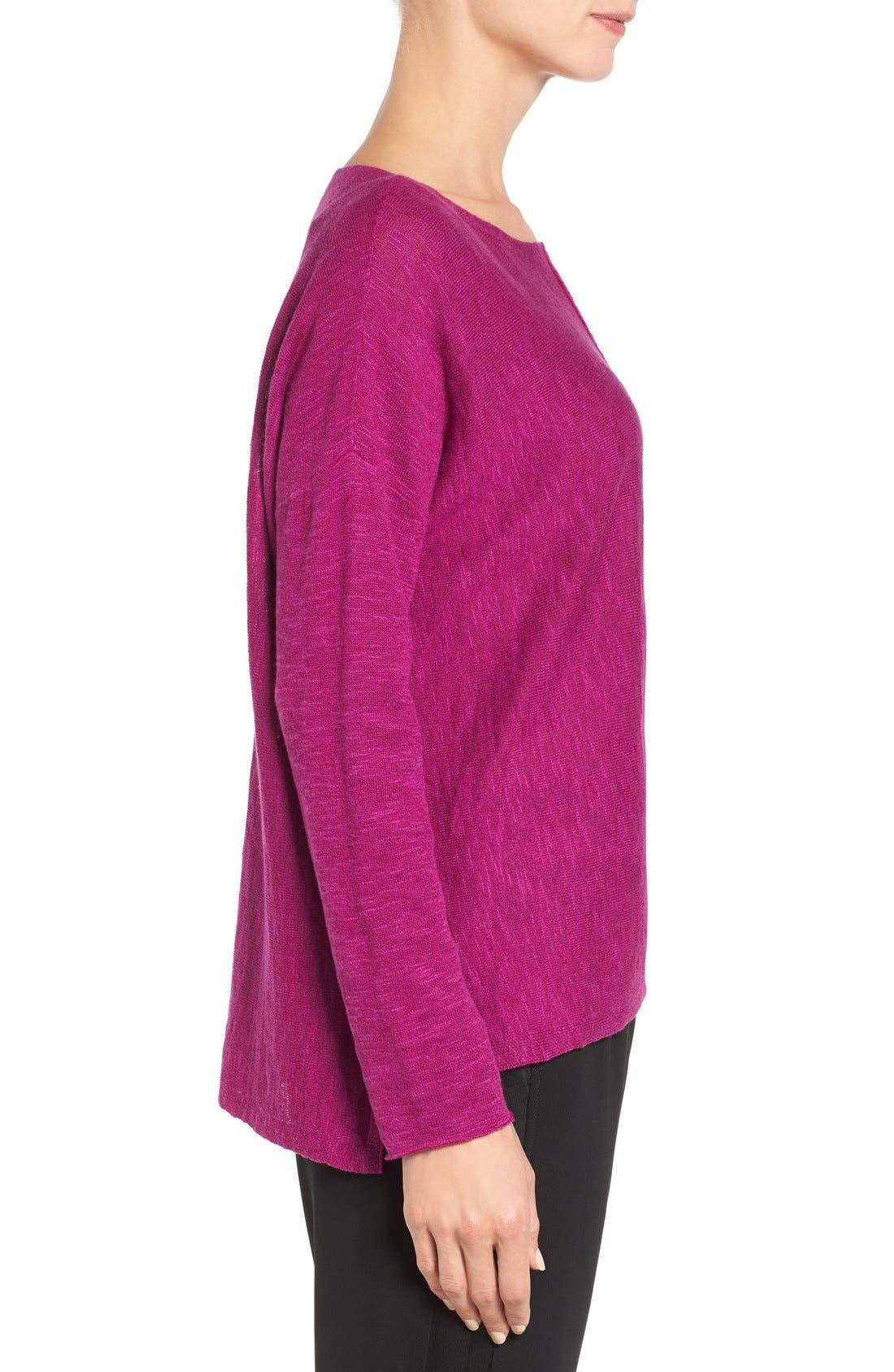 Alternate Image 3  - Eileen Fisher Organic Linen & Cotton Top (Regular & Petite)