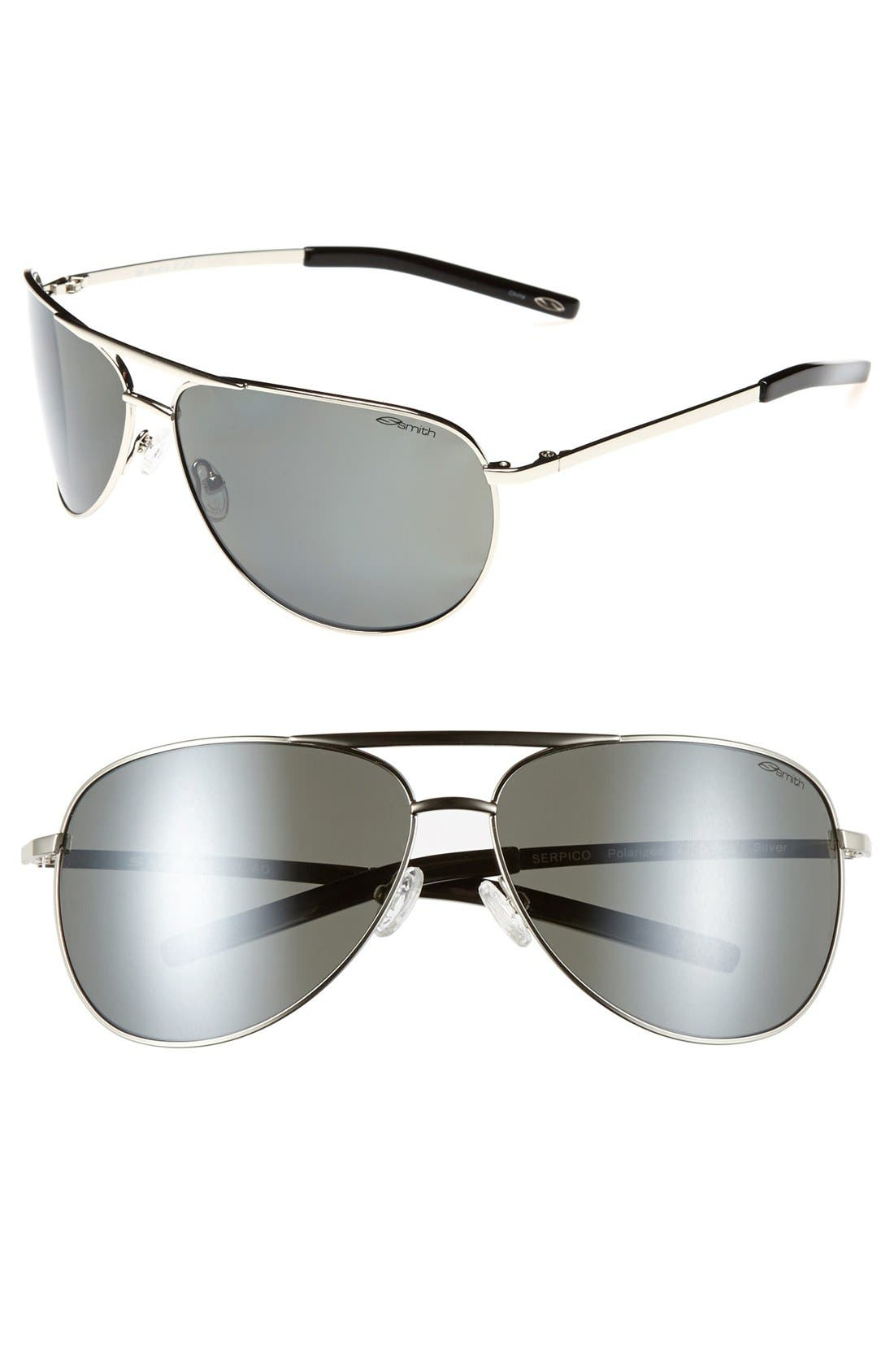 Alternate Image 1 Selected - Smith Serpico 65mm Polarized Aviator Sunglasses