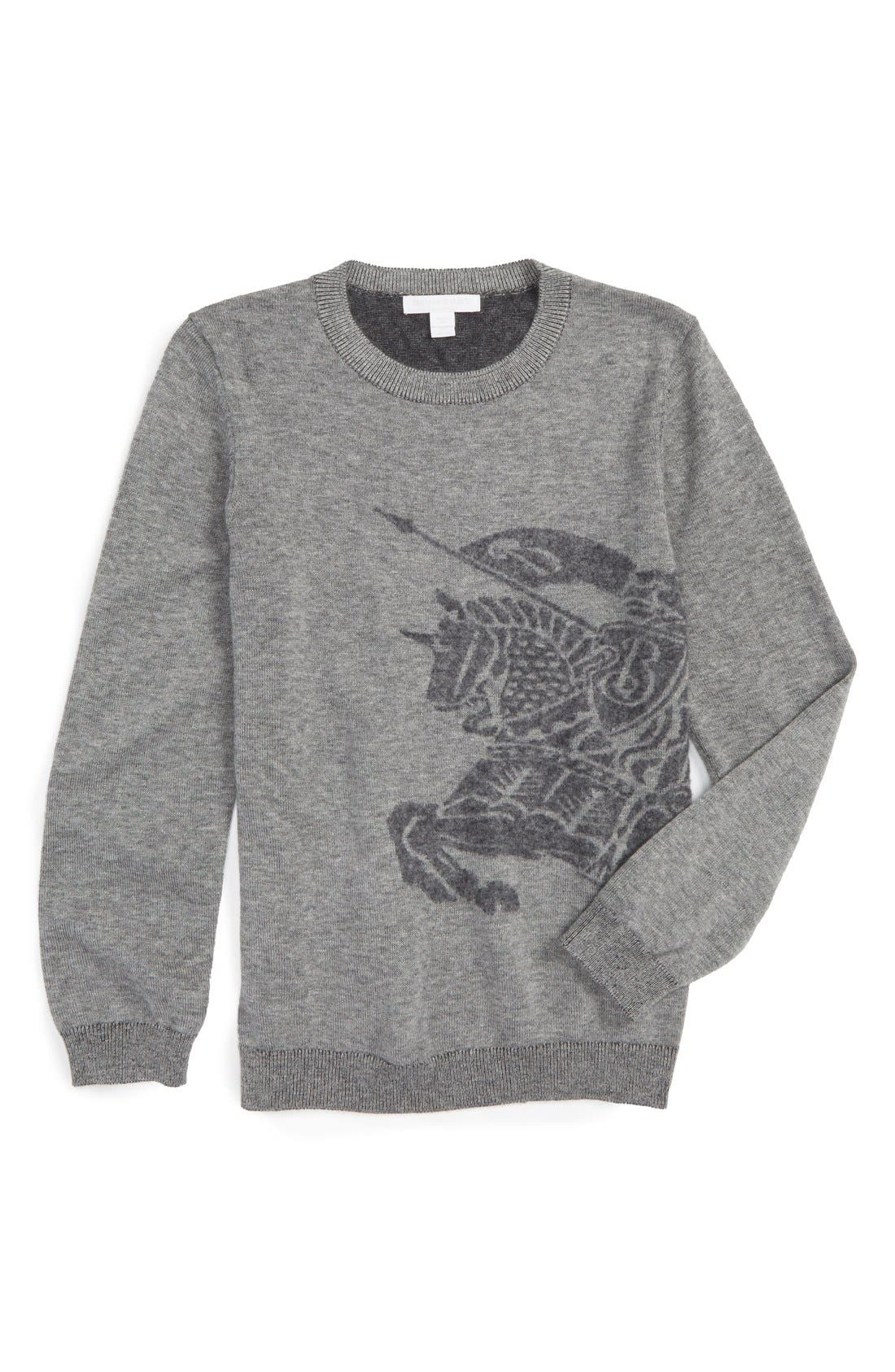 Alternate Image 1 Selected - Burberry Mini Chalfont Cashmere Sweater (Little Boys & Big Boys)