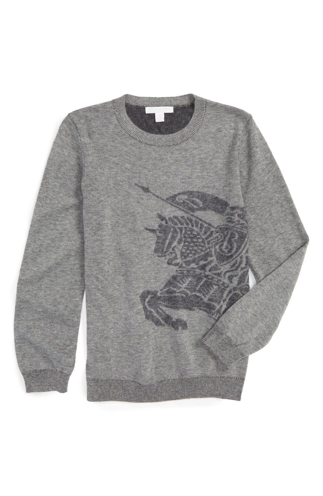 Mini Chalfont Cashmere Sweater,                         Main,                         color, Light Grey Melange
