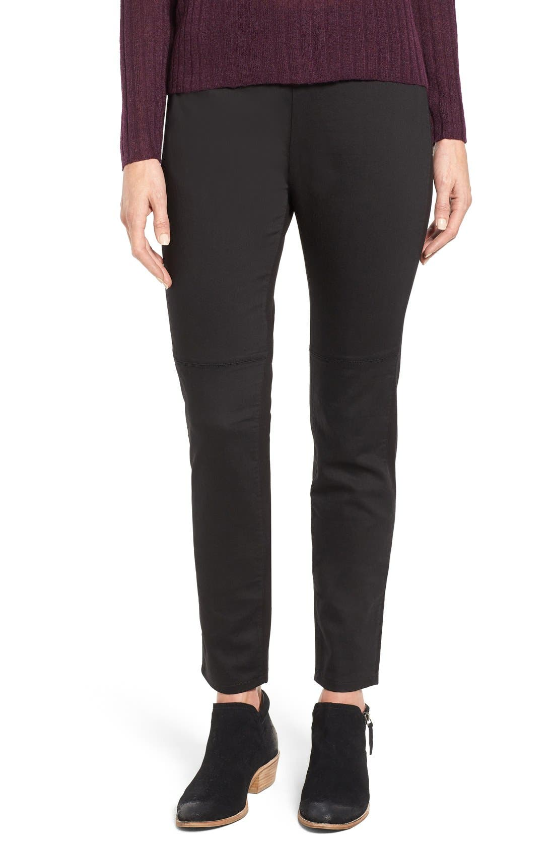 Eileen Fisher Mixed Media Slim Leg Pants