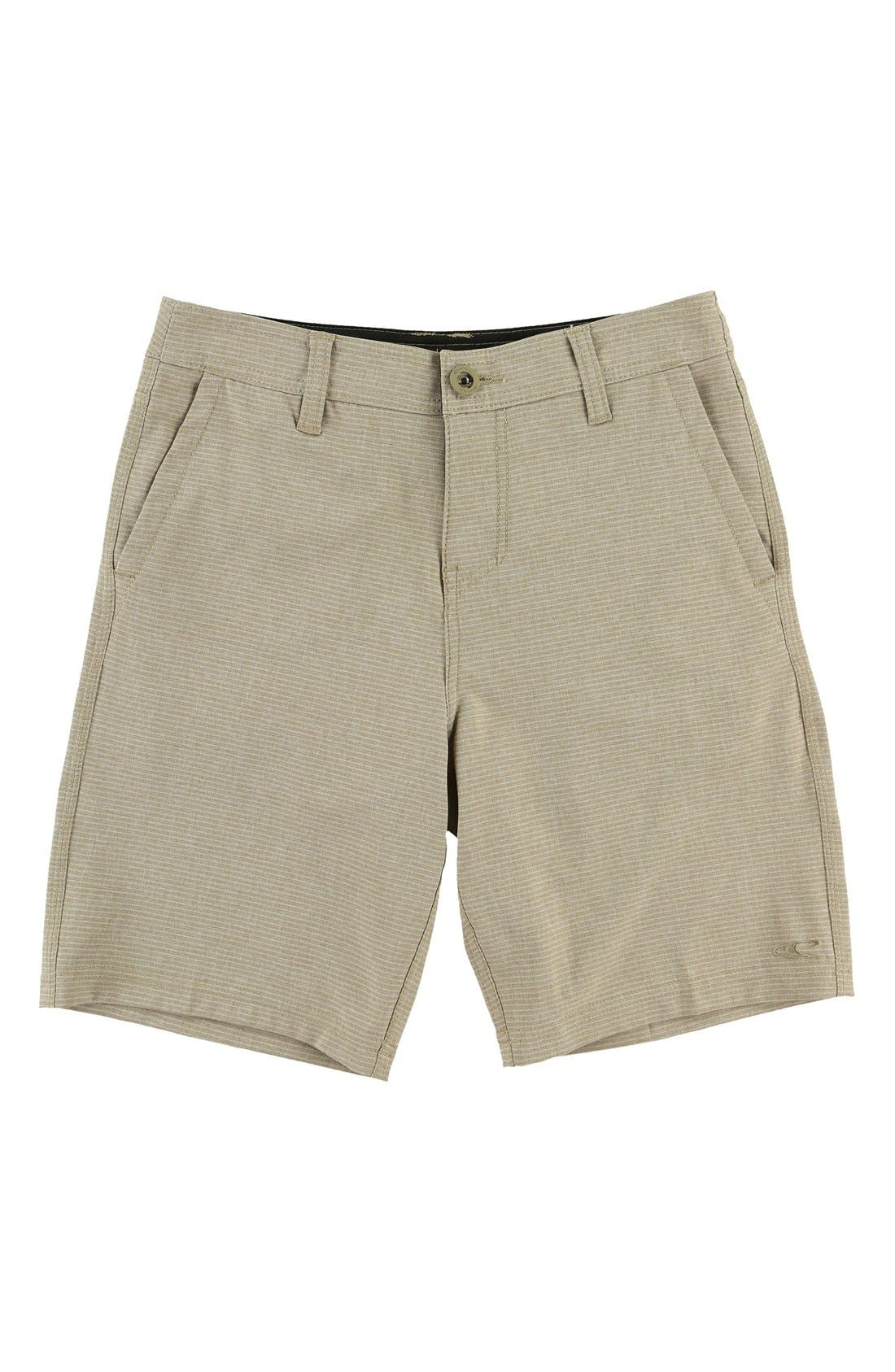 Main Image - O'Neill Locked Stripe Hybrid Board Shorts (Big Boys)