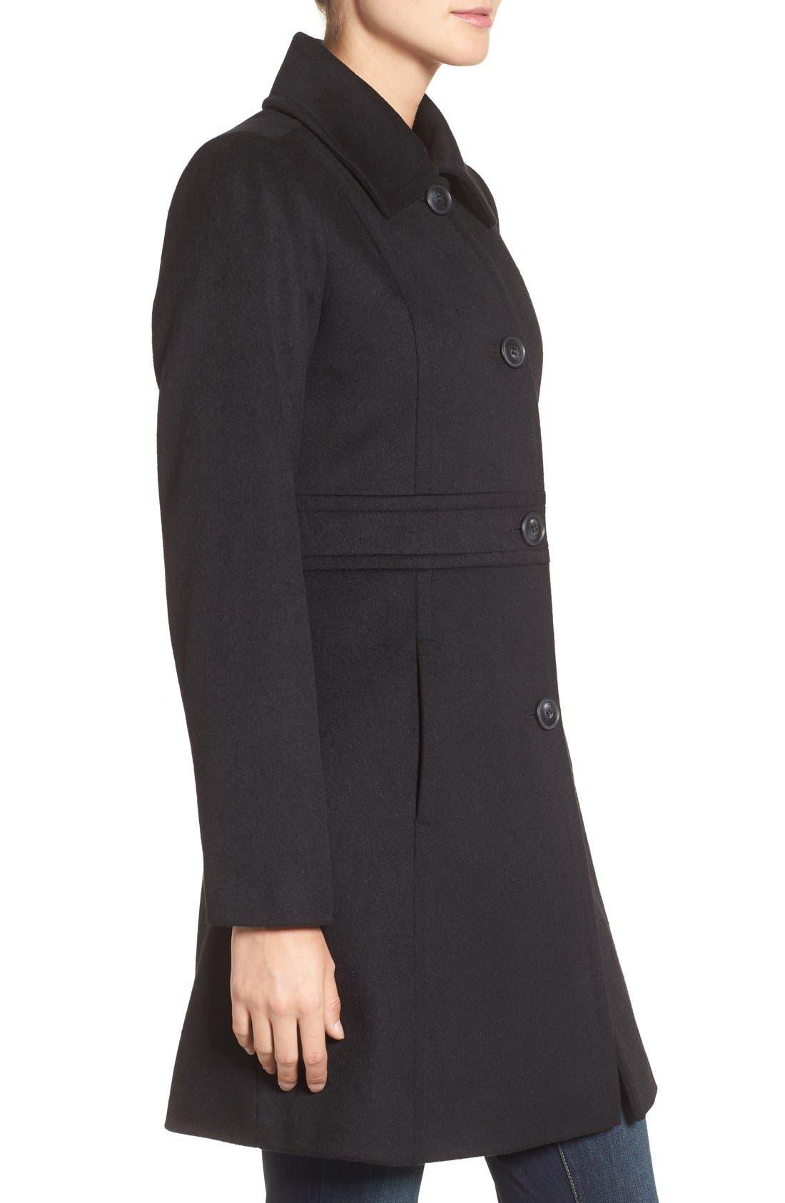 Alternate Image 3  - Kristen Blake Wool Blend Walking Coat (Regular & Petite)