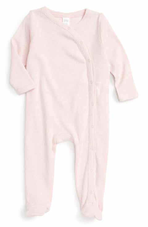 Baby shower gifts nordstrom nordstrom baby rib knit footie baby girls negle Gallery