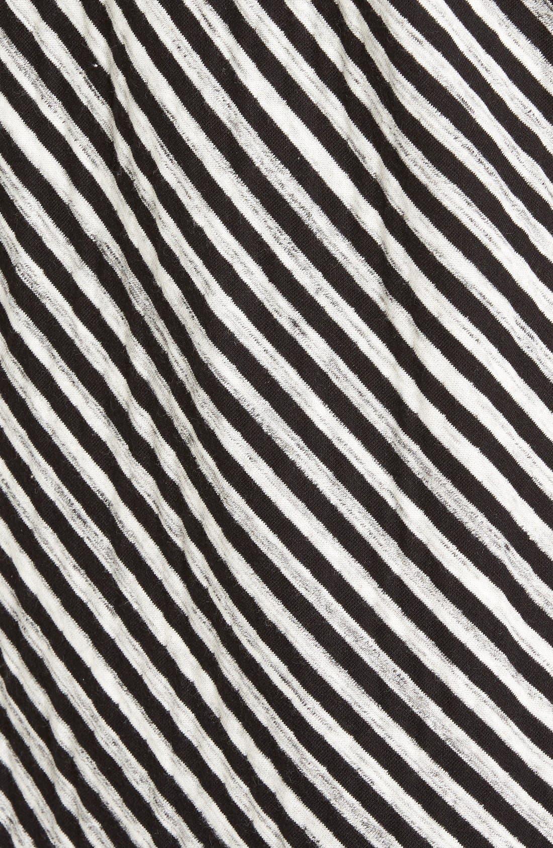 Alternate Image 5  - Caslon® Stripe Cowl Neck Sweatshirt (Regular & Petite)