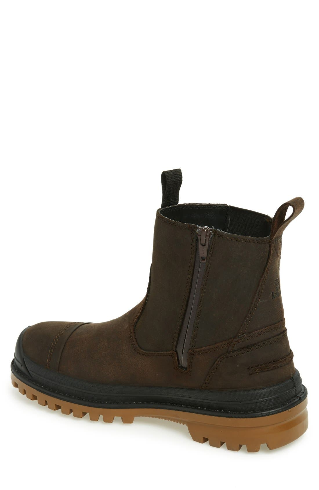 Griffon Snow Boot,                             Alternate thumbnail 2, color,                             Dark Brown Leather