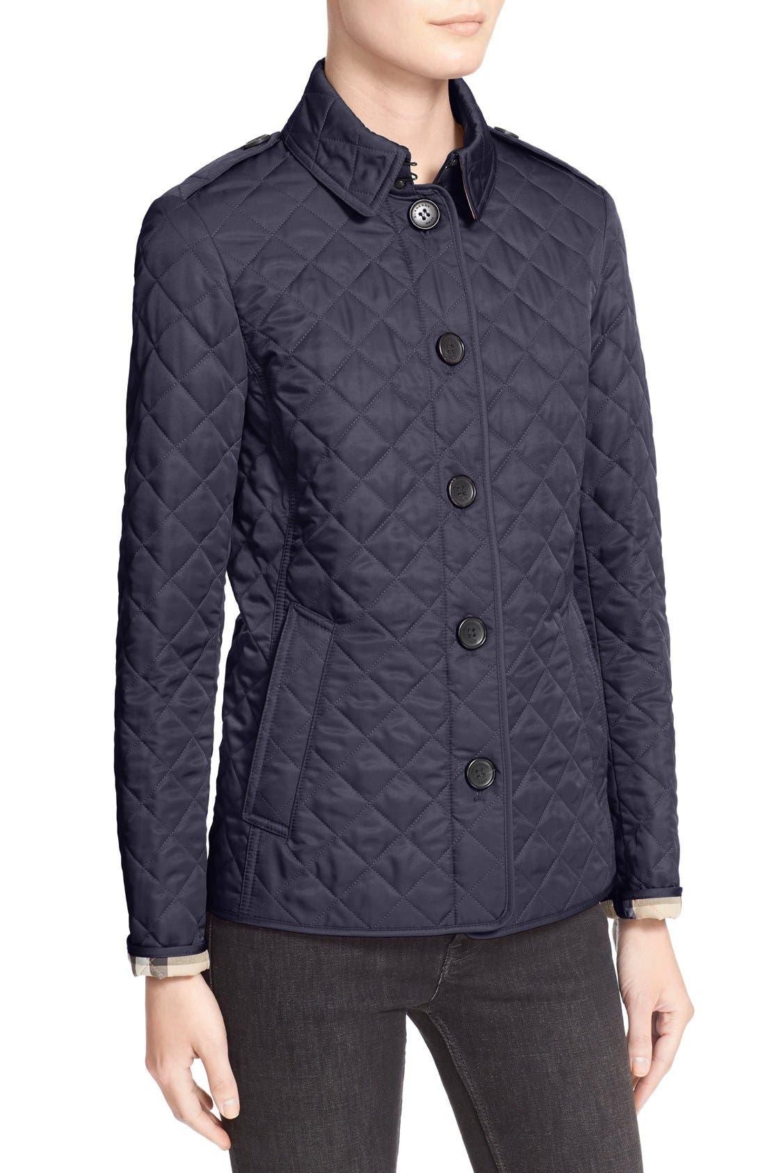Ashurst Quilted Jacket,                             Alternate thumbnail 7, color,                             Navy