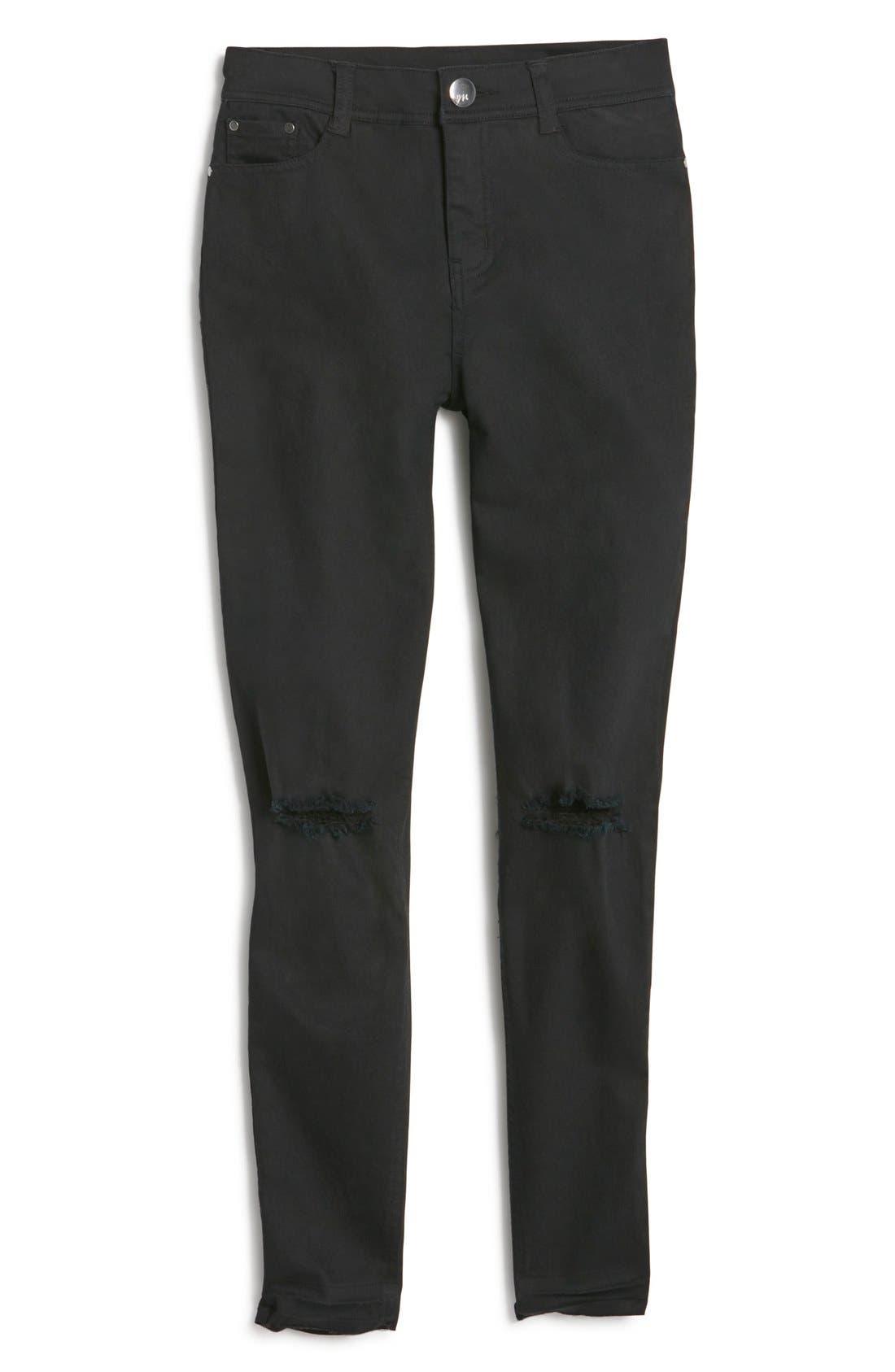 MADDIE High Waist Distressed Skinny Jeans