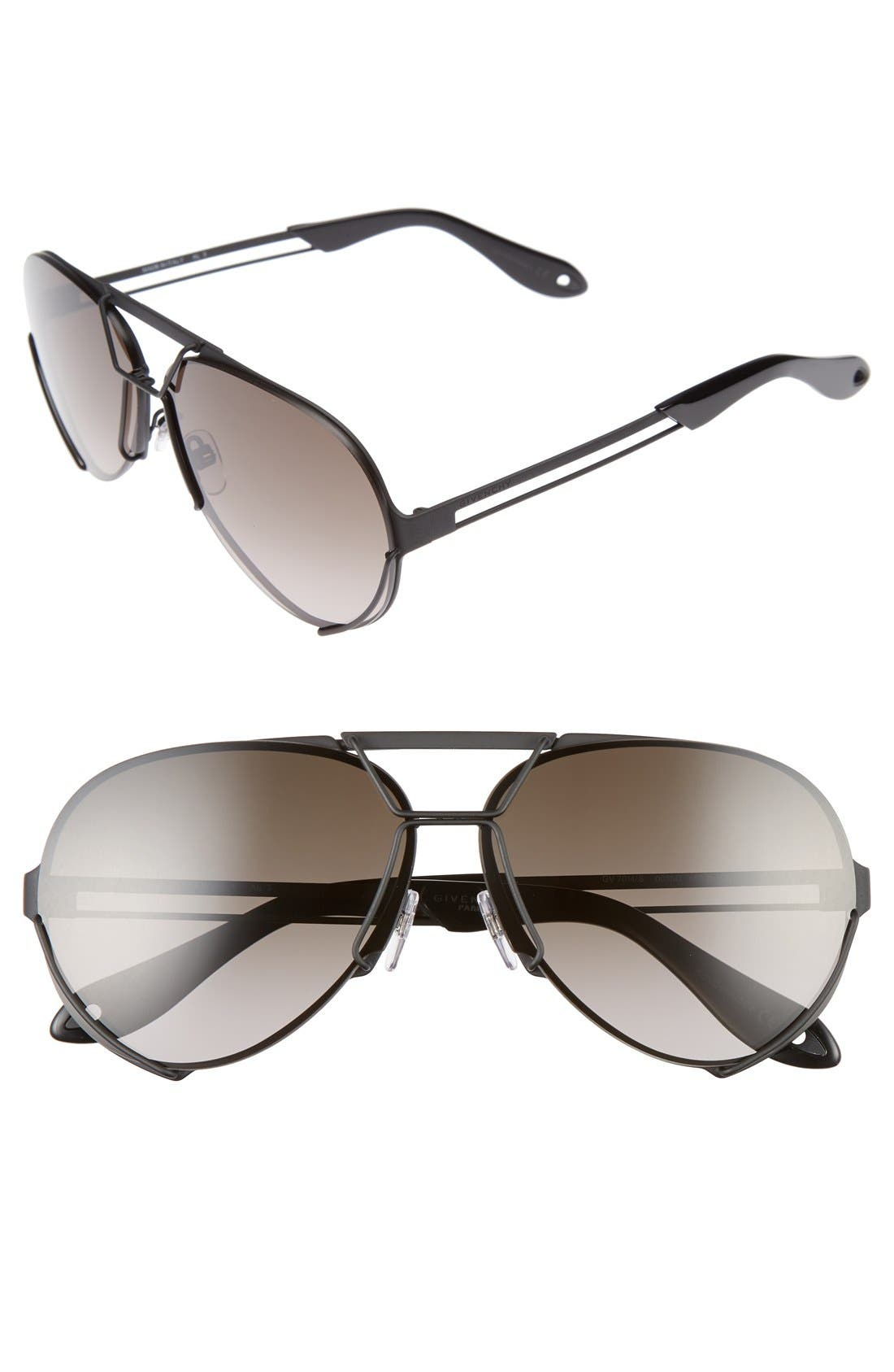 Alternate Image 1 Selected - Givenchy 65mm Aviator Sunglasses