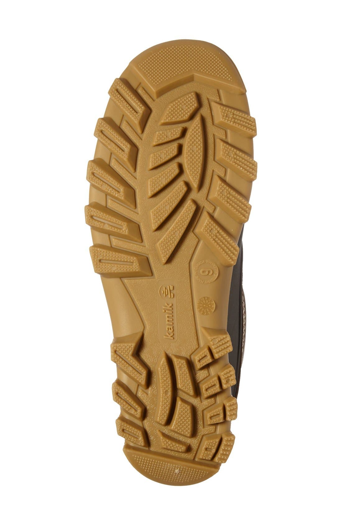 Yukon6 Waterproof Work Boot,                             Alternate thumbnail 4, color,                             Dark Brown Leather