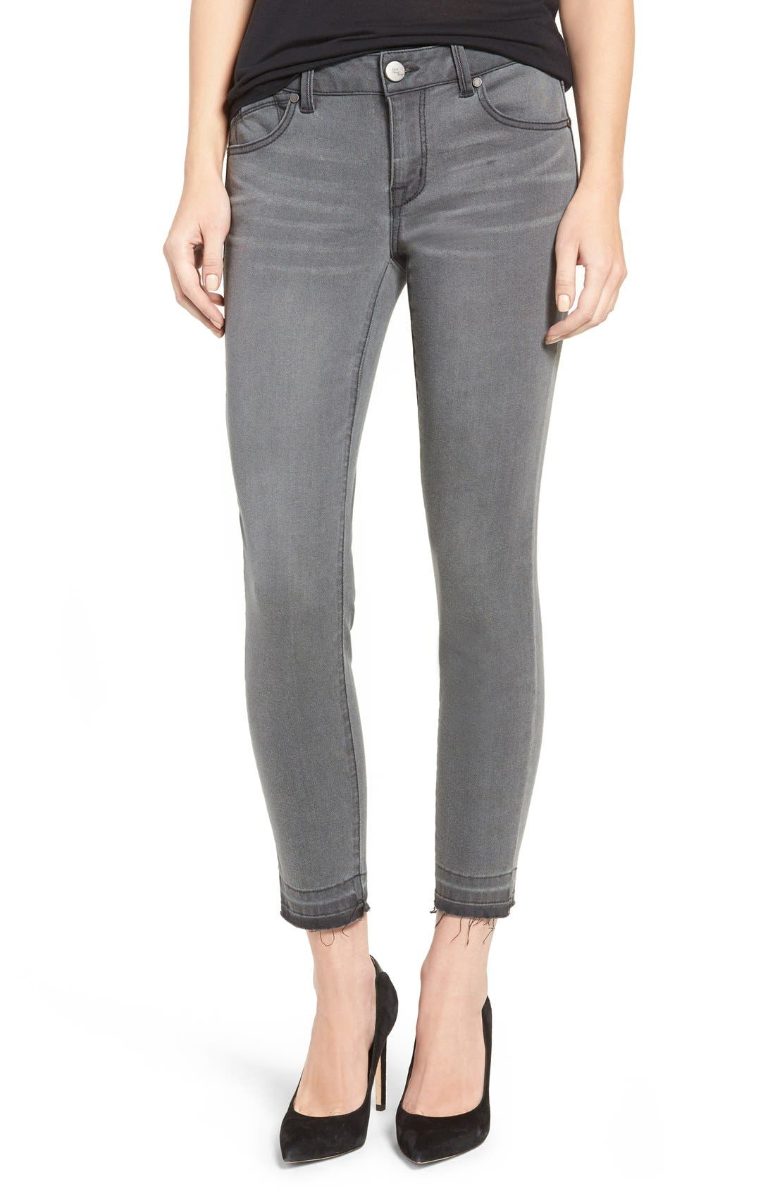 1822 Denim Raw Hem Crop Skinny Jeans