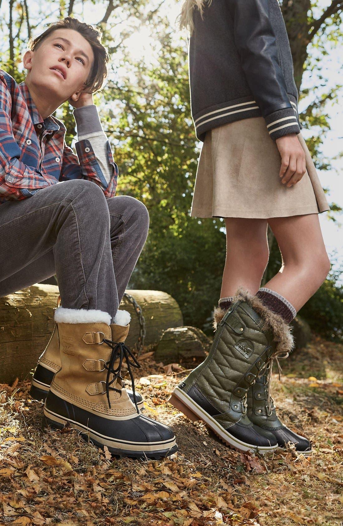 Alternate Image 5  - SOREL Caribou Waterproof Boot (Little Kid & Big Kid)