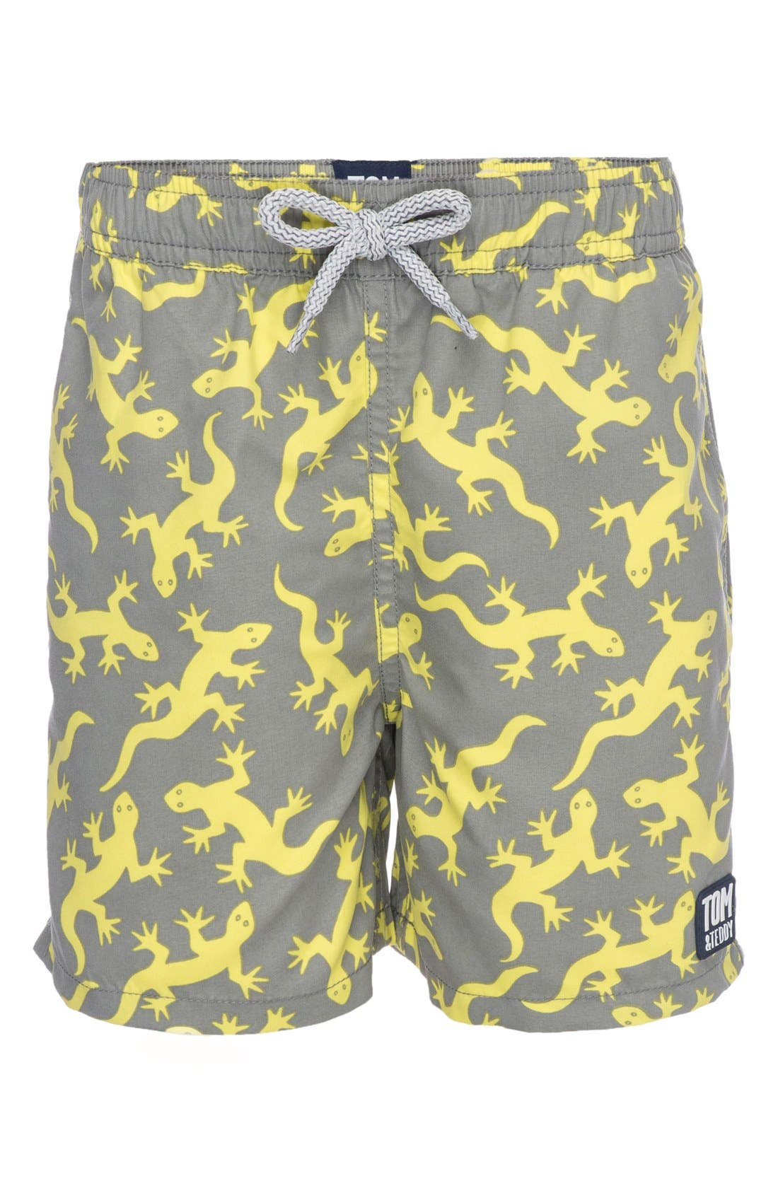 Tom & Teddy Lizards Swim Trunks (Toddler Boys, Little Boys & Big Boys)