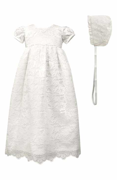 e6a2cf1001ce Scalloped Lace Christening Gown   Bonnet (Baby)