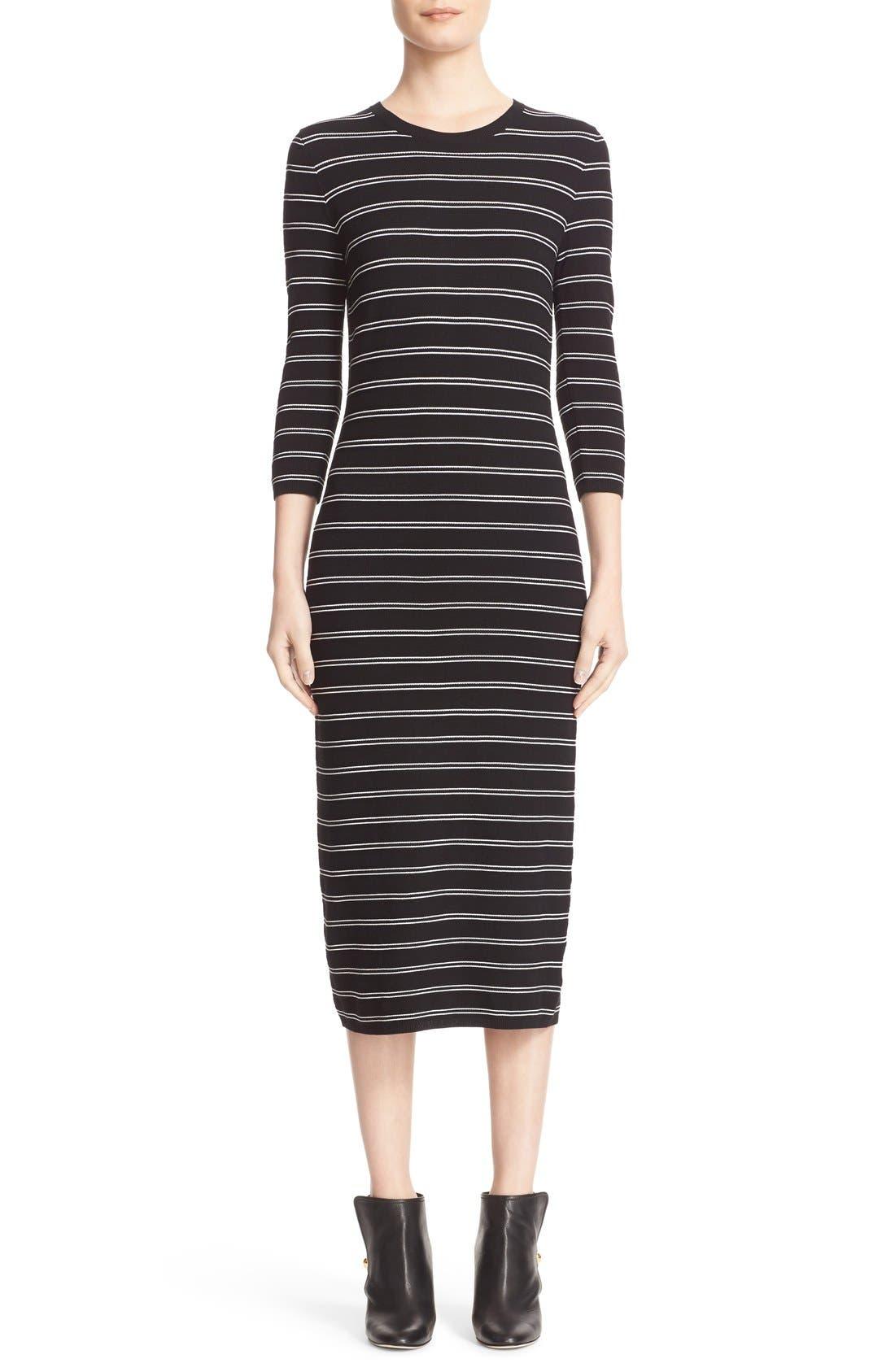 Main Image - Theory 'Delissa B' Stripe Textured Knit Maxi Dress