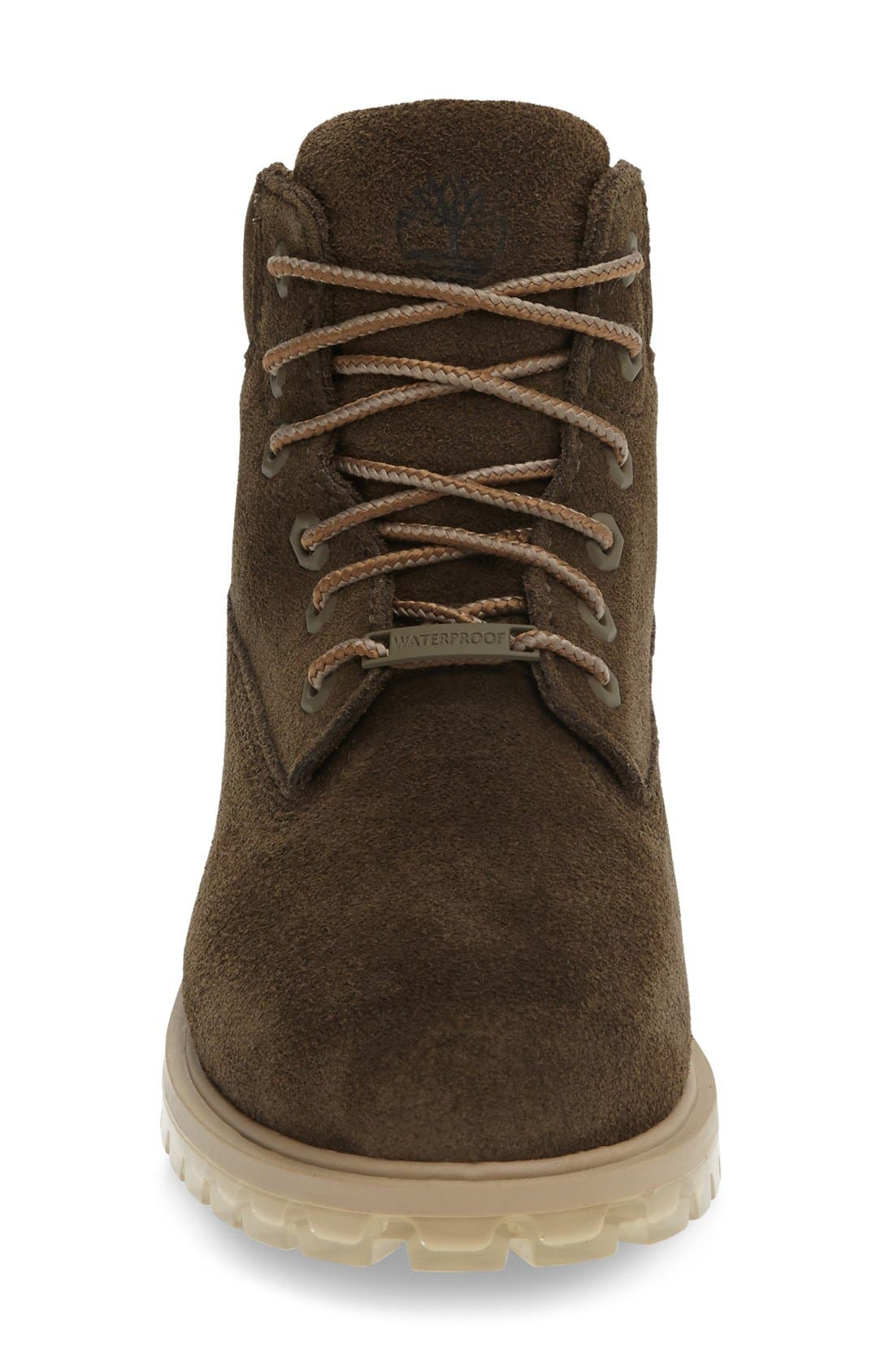 '6 Inch' Waterproof PrimaLoft<sup>®</sup> ECO Insulated Winter Boot,                             Alternate thumbnail 3, color,                             Dark Olive Suede