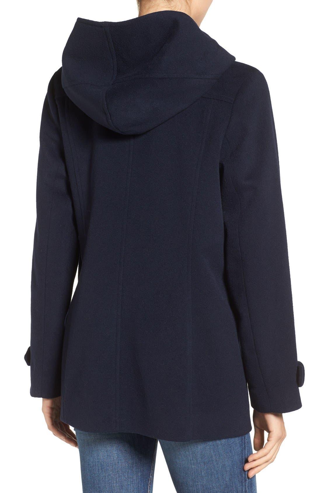 Alternate Image 2  - Pendleton Roslyn Waterproof Lambswool Blend Hooded Coat