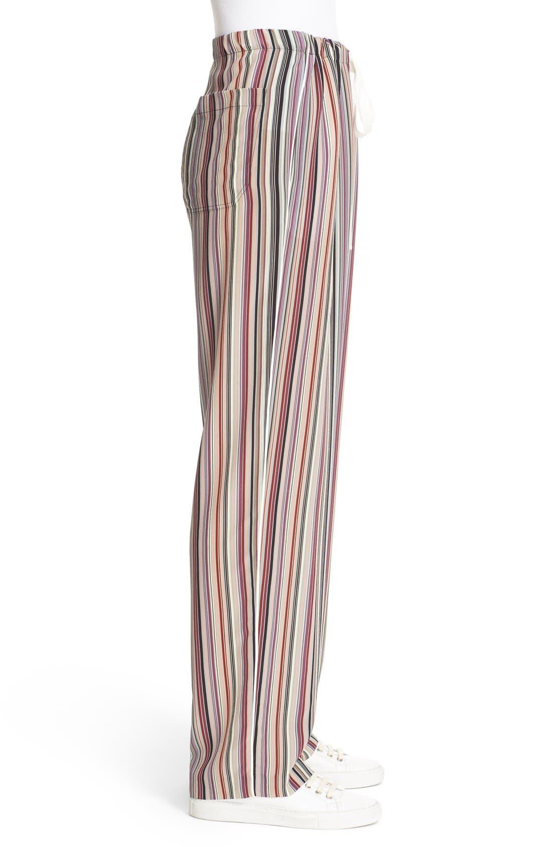 Alternate Image 3  - Theory Winszlee Stripe Silk Pants