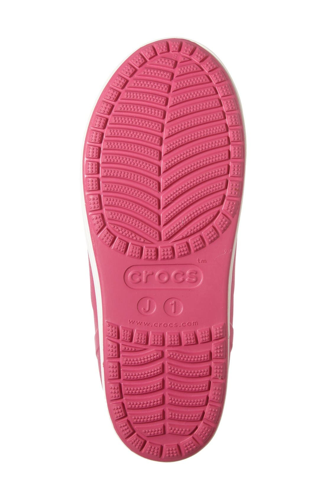 Bump It Waterproof Rain Boot,                             Alternate thumbnail 4, color,                             Candy Pink/ Oyster