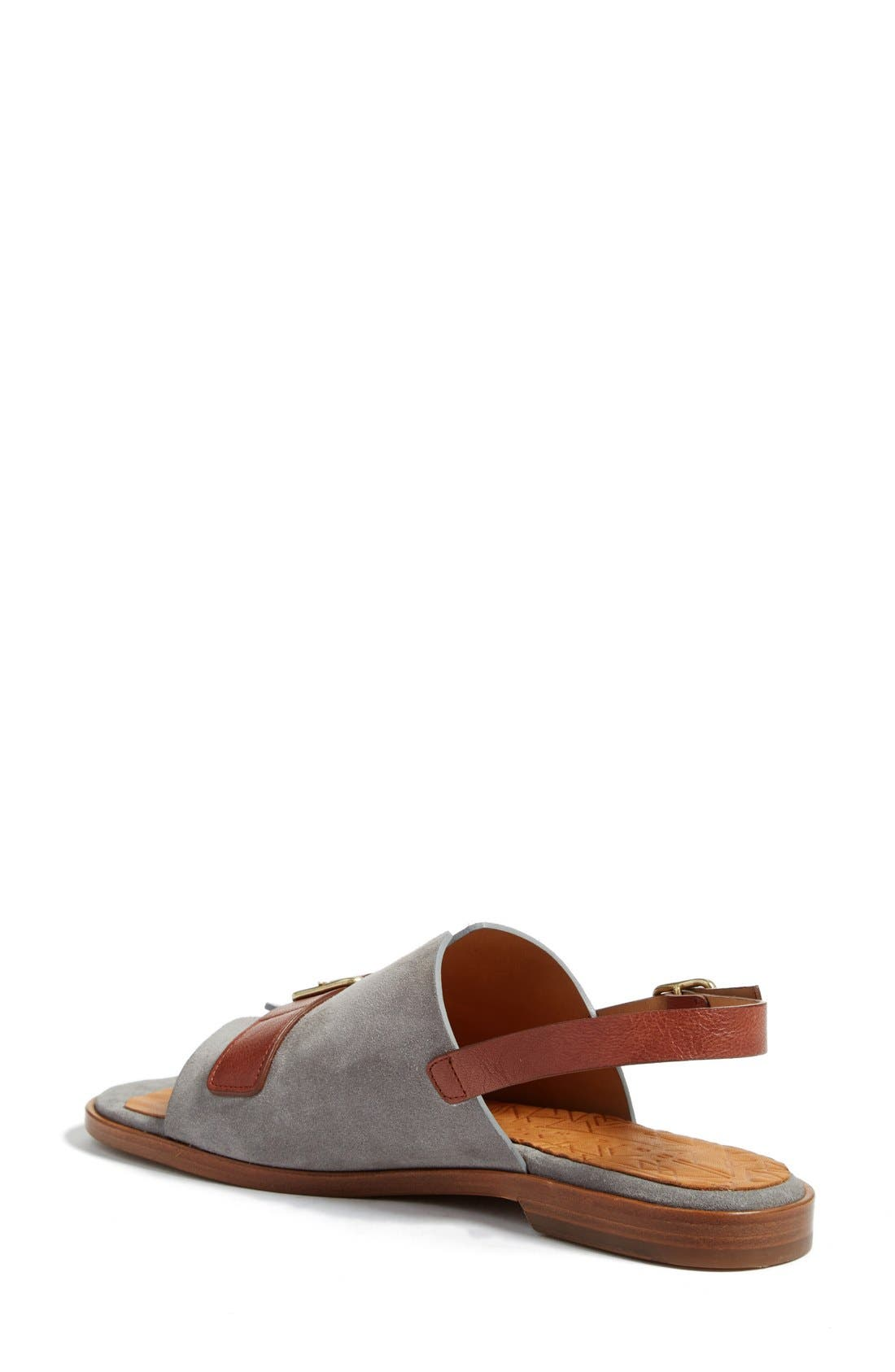Querete Slingback Sandal,                             Alternate thumbnail 2, color,                             Stone/ Brown