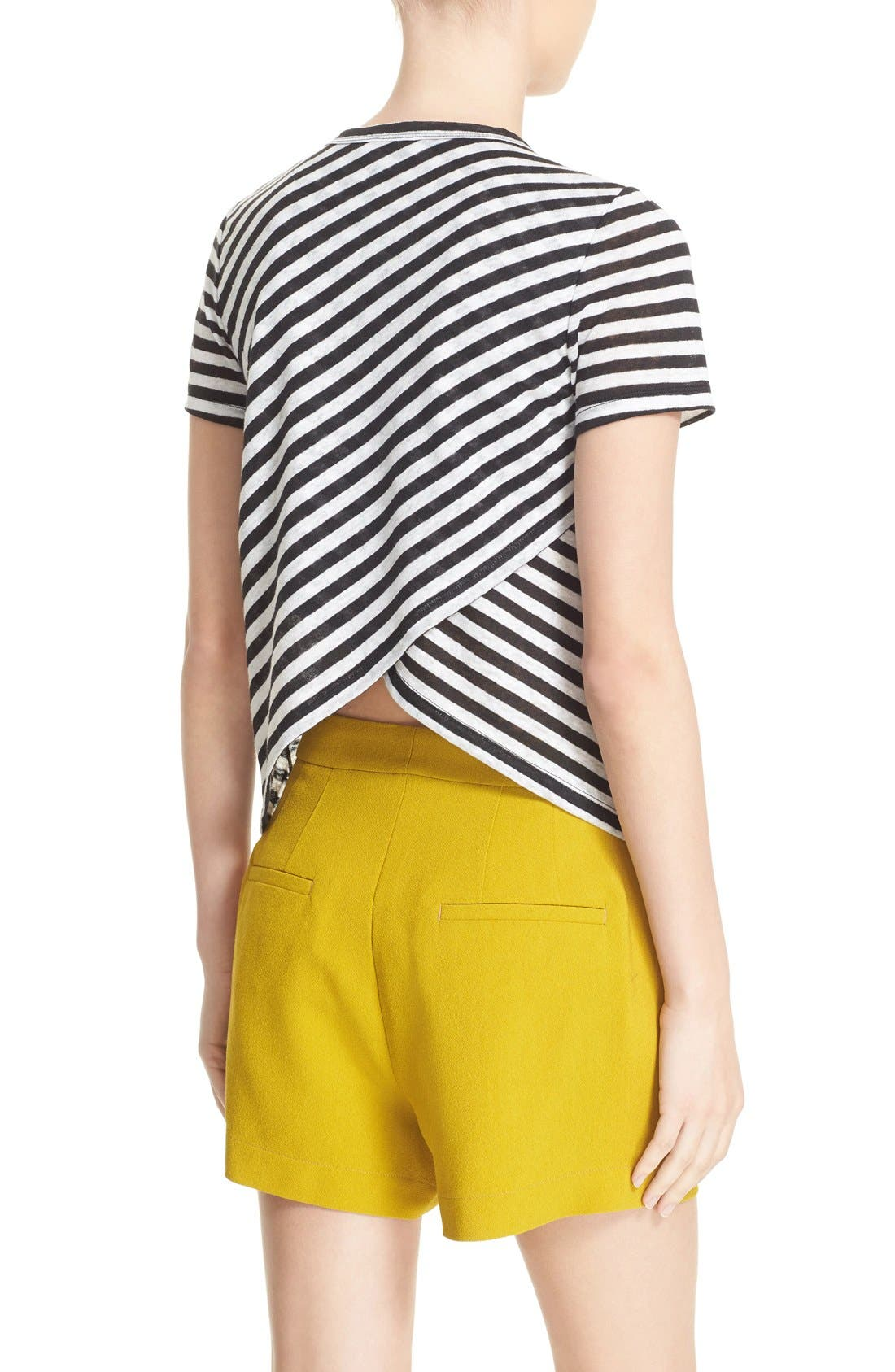 Alternate Image 2  - A.L.C. Tesi Stripe Linen Tee