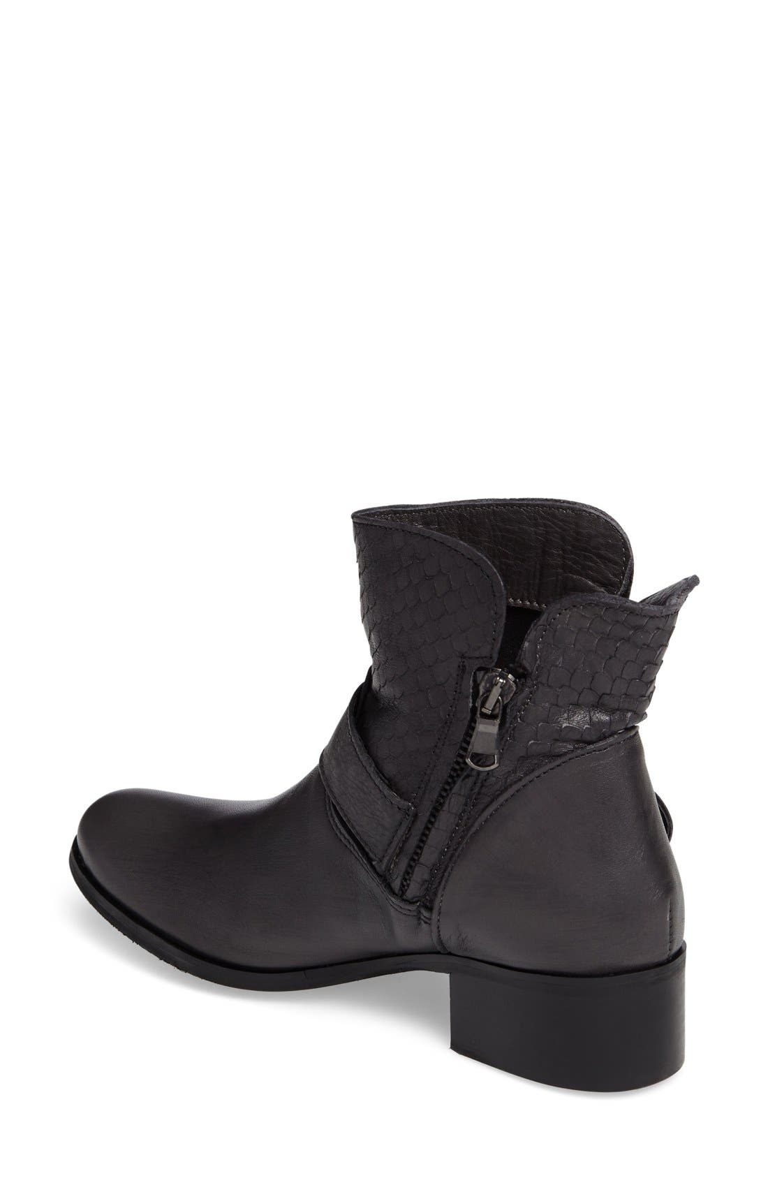 Alternate Image 2  - CrossTown Chiara 22 Textured Buckle Strap Bootie (Women)