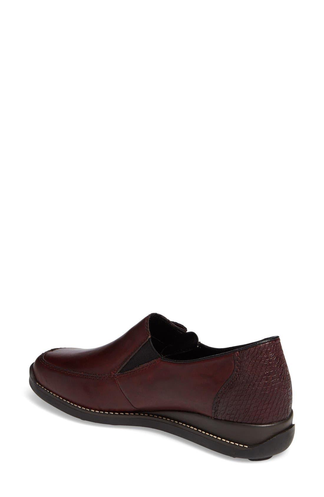 'Daphne' Wedge,                             Alternate thumbnail 2, color,                             Bordeaux Leather