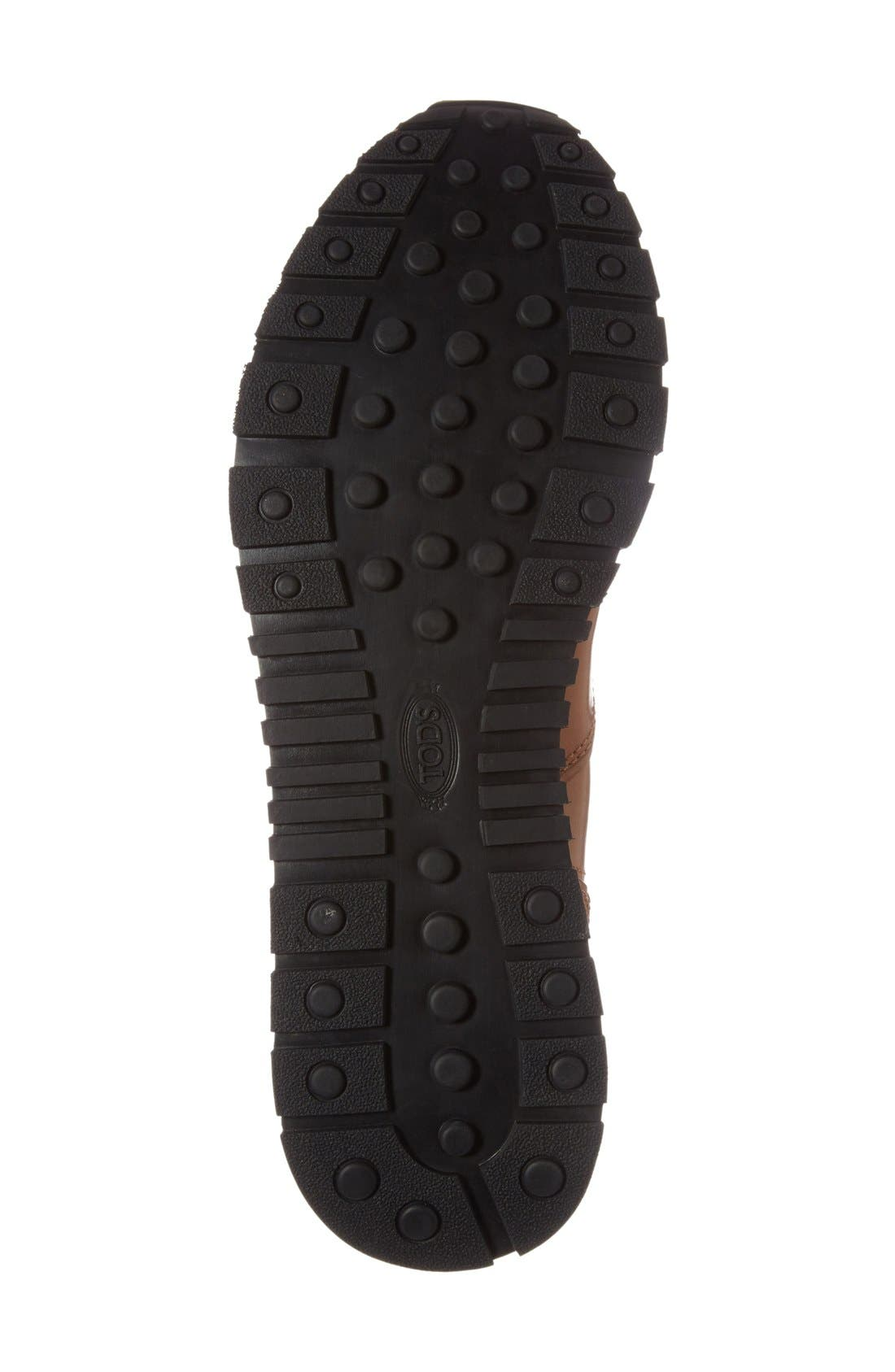 'Allacciato' Sneaker,                             Alternate thumbnail 4, color,                             Brown Leather