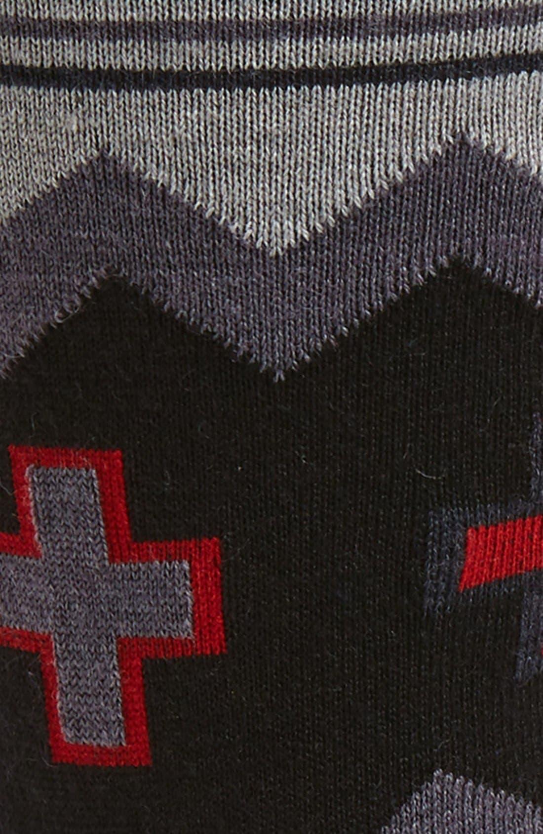 Badon Wool Blend Crew Socks,                             Alternate thumbnail 2, color,                             Grey